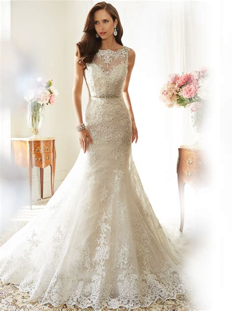wedding dress design fit and flare wedding dress with bateau neckline