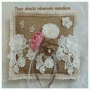 Urne Mariage Champêtre : urne mariage toile de jute la copie n 39 est pas un art ~ Melissatoandfro.com Idées de Décoration