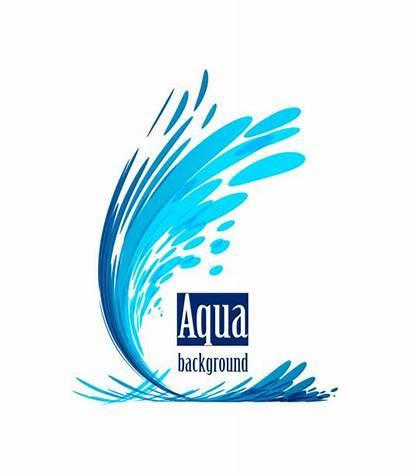 Water Vector Aqua Background Flowing Splash Falling