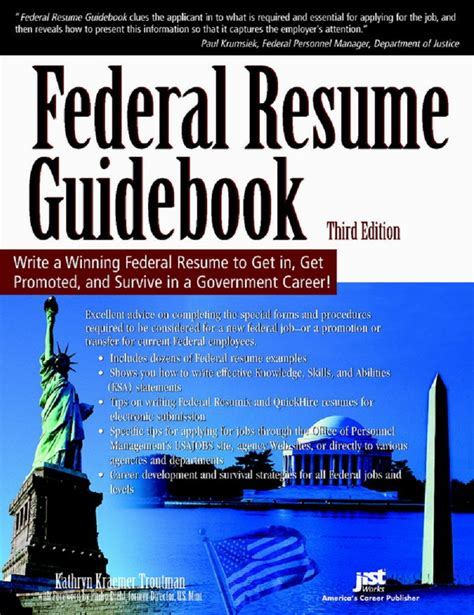 kathryn k troutman 171 federal resume guidebook 3rd