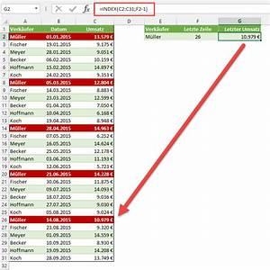 Umsatz Berechnen Excel : den letzten wert einer liste finden der tabellen experte ~ Themetempest.com Abrechnung