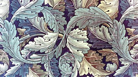 Green Yellow Leaves In Purple Background HD William Morris ...