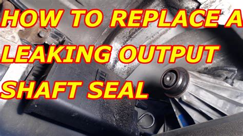 How To Replace A Leaking Rear Transfer Case Output Seal