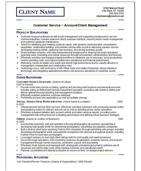 Exles Of Resume Writings by Resume Writing Guild Customer Service Resume Exle