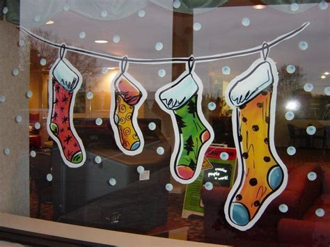 christmas window painting ideas christmas stockings window painting window painting pinterest