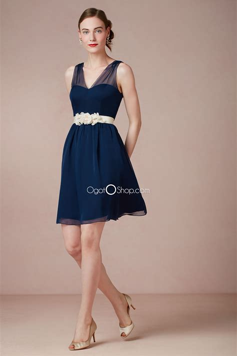 navy cocktail dress wedding gorgeous navy blue bridesmaid dresses to inspire you cherry
