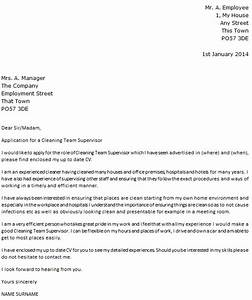 cleaning team leader cover letter example icoverorguk With cover letter for a team leader position