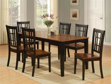 This photo is about sofa, table, window. 7-PC DINETTE KITCHEN DINING TABLE w/ 6 WOOD SEAT CHAIRS IN ...