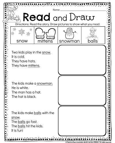 kindergarten math and literacy worksheets for december teachers pay teachers my store