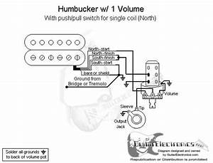1 Humbucker  1 Volume  Pull For North Single Coil