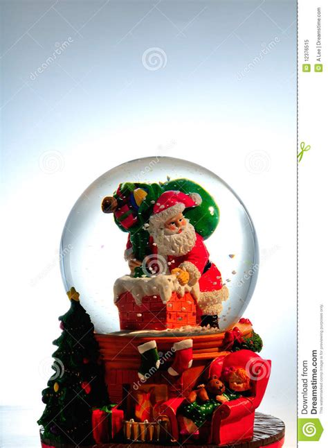 santa snow globe royalty free stock photo image 12376515