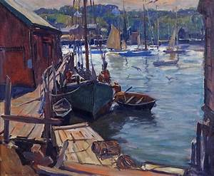 """""""Early Morning in Gloucester"""" Painting by Emile Gruppe For"""