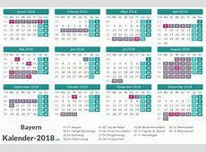 FERIEN Bayern 2018 Ferienkalender & Übersicht