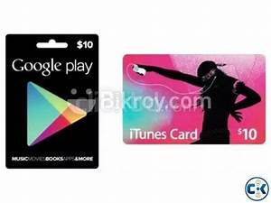 itunes and google play gift cards | ClickBD