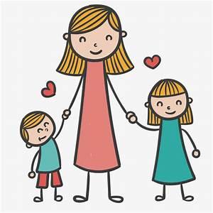 La Familia De Dibujos Animados, Niño, Madre, Cartoon PNG y Vector para Descargar Gratis