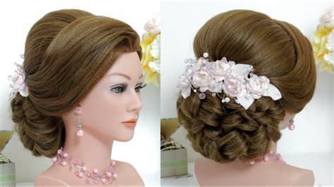 beautiful hairstyle  puff step  step bridal hair