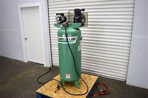 Lot  87  Speedair Cast Iron Series 60 Gallon Air