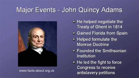 President John Quincy Adams Biography