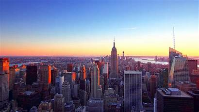 York Sunset Sky Background 1080p Pc Scrapers