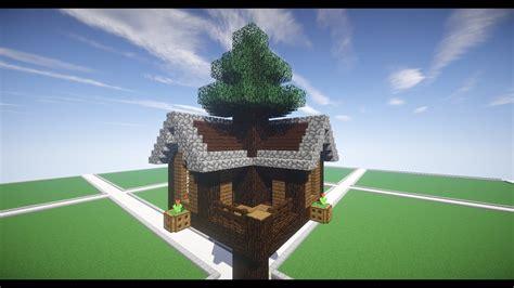 build  spruce treehouse  minecraft youtube