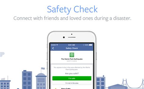 safety check feature lets report they are safe in