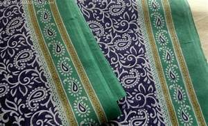 Paisley Cotton Sari Fabric By The Yard-Unique Indian Saree