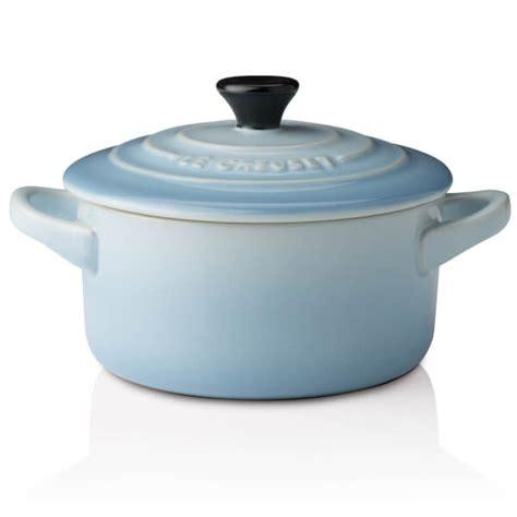 le creuset light blue casserole dish le creuset stoneware petite casserole dish coastal blue