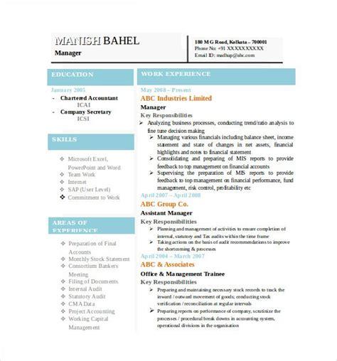 best resume formats free sles exles format download