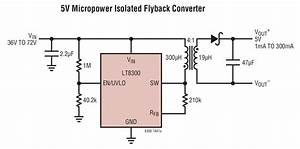 Lt8300 5v Micropower Isolated Flyback Converter Circuit Collection