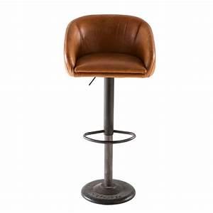 Chaise De Bar Maison Du Monde : chaise de bar indus en cuir camel maisons du monde ~ Teatrodelosmanantiales.com Idées de Décoration