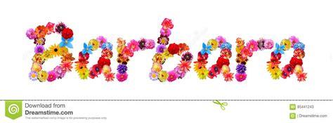 nome di fiore nome barbara dei fiori illustrazione di stock