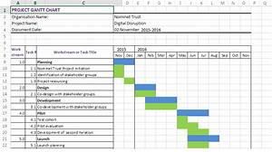 Excel Gantt Chart Template 2016  U2013 Chart Template