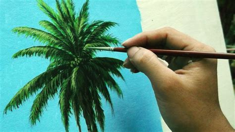 Learn How To Paint Coconut Tree Instructional Acrylic
