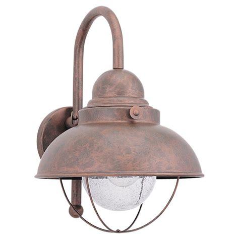 sea gull lighting 8871 44 weathered copper sebring 1 light