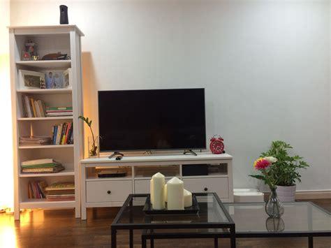 living room  ikea hemnes tv bench brusali bookcase