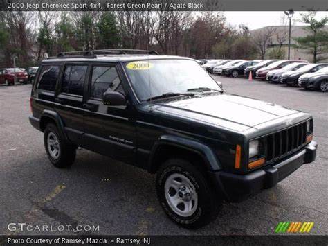 2000 jeep cherokee black forest green pearl 2000 jeep cherokee sport 4x4 agate