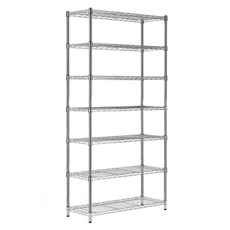 Narrow Wall Shelving Unit by Narrow Chrome Shelving Unit 7 Shelves H1825 X W910 X