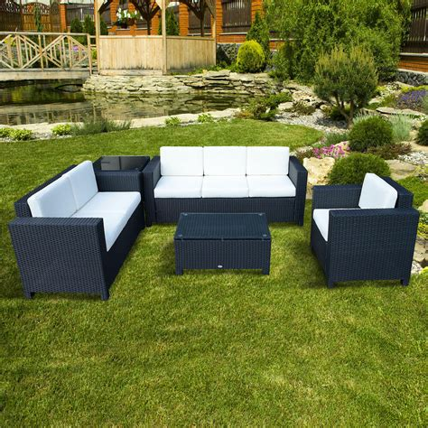 Back Patio Furniture by Outdoor Rattan Garden Patio Wicker Weave Furniture Table