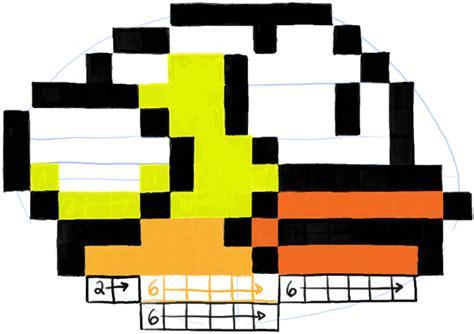 draw flappy bird  pixels  easy steps