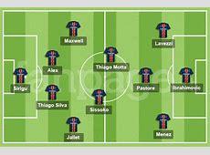 La formazione del PSG 2013 con Ibra, Thiago Silva e
