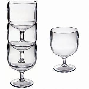 Porte Verre à Pied : verres pied empilabel polycarbonate azurinoxmarine ~ Dailycaller-alerts.com Idées de Décoration