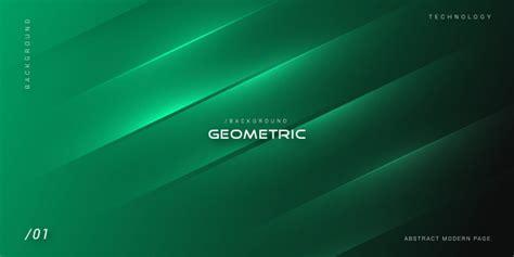 Green elegant dark geometric background Vector Premium