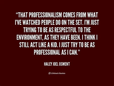 workplace professionalism quotes