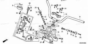 Honda Motorcycle 2012 Oem Parts Diagram For Handlebar