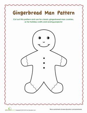 gingerbread pattern worksheet education