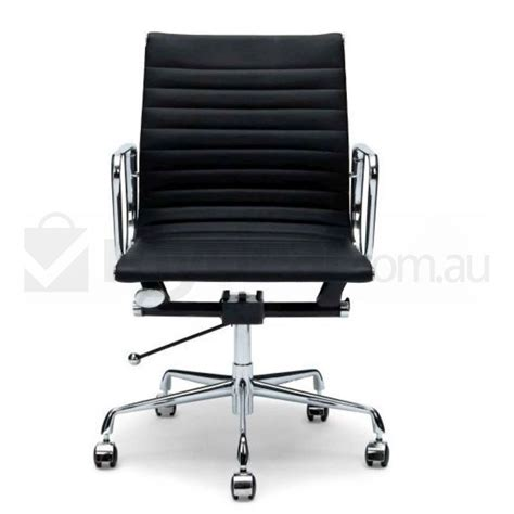 black aluminium leather office chair eames replica buy