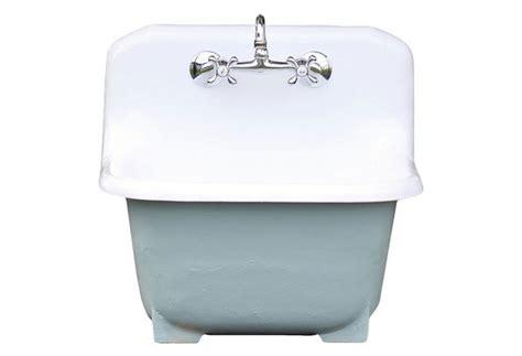 porcelain laundry utility sink deep basin cast iron porcelain farm utility sink gardenista