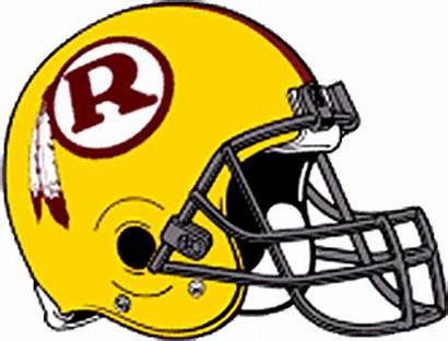 Redskins Washington Helmet Logos 1970 Football Transparent