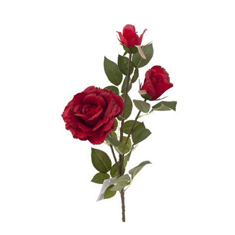 Floare artificială Trandafir 3 flori roșu - Casa Rusu