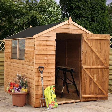 shed door wood 8x6 wooden overlap garden storage shed windows single door